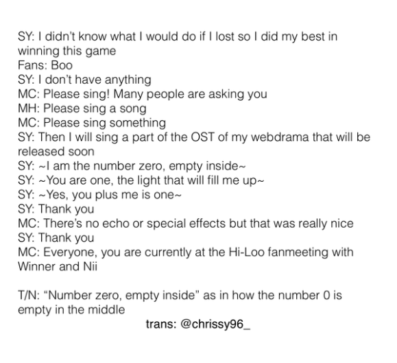 150515 nii hiloo fanmeeting we broke up ost ksy