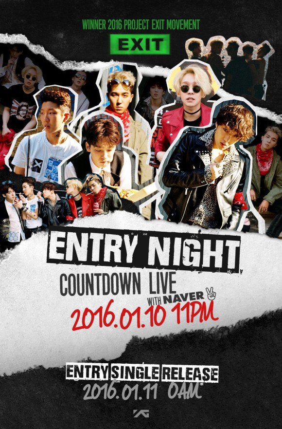 160108 WINNER - COUNTDOWN LIVE ENTRY NIGHT