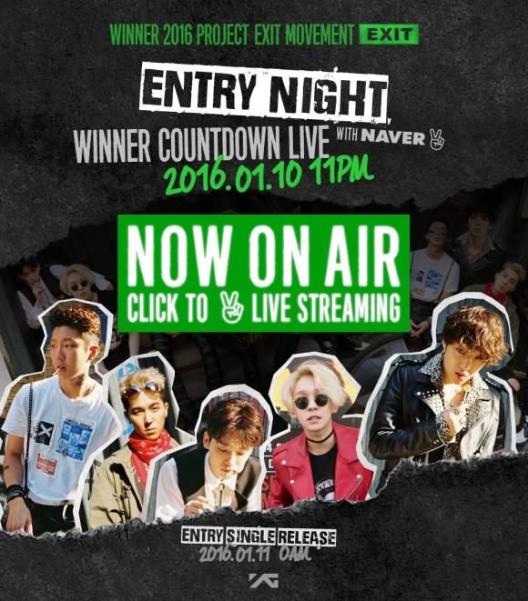 160110 WINNER - COUNTDOWN LIVE ENTRY NIGHT
