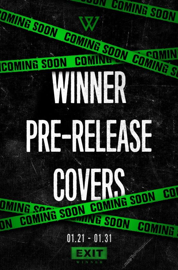 160120 WINNER - EXIT E PRE-RELEASE COVERS