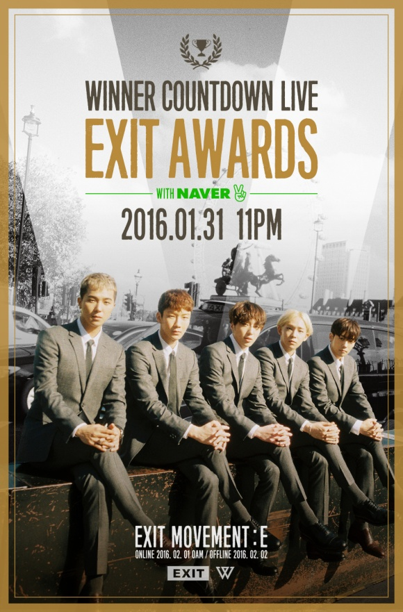 160128 WINNER - COUNTDOWN LIVE EXIT AWARDS